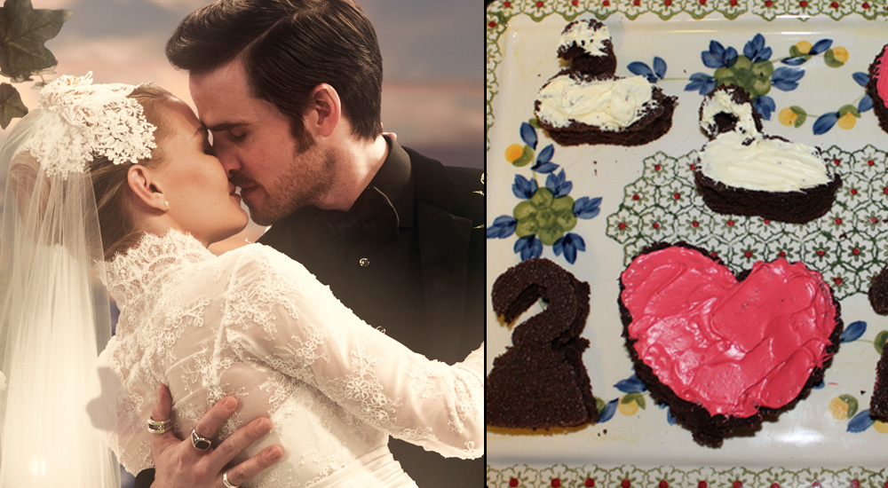 Captain Swan and Valentine's Day Inspired Cake